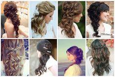 Effortless Chic Love the curls in bottom left Mod Wedding, Wedding Looks, Chic Wedding, Wedding Styles, Dream Wedding, Hair Inspiration, Wedding Inspiration, Wedding Ideas, Wedding Stuff