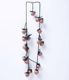 david Bielander - necklace 'raspberries' - titanium,leather 2012