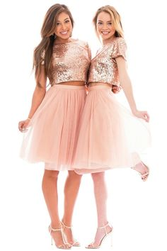 Oh darling, you musn't dull your SPARKLE! love love love these fun statement shirts  //  Bandi Top Rose Gold, Skylar Tulle Skirt Cream