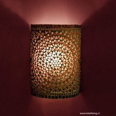 wandlamp mozaïek - paars