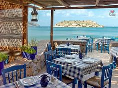 Taverna overlooking Spinalonga Crete ~ I will never forget the Island erry feeling & emotional (2012)