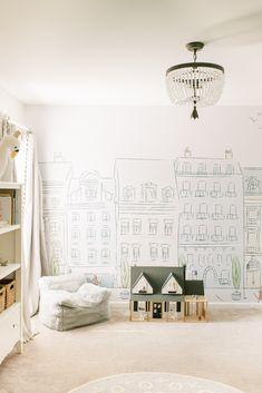 """Parisian Street Mural - Print / Canvas Print - 54""""W x 40""""H"""