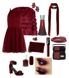 """""""one color to rule them all; deep red"""" by daddy-allahu-akbar ❤ liked on Polyvore featuring AINEA, New Look, HUGO, Jeffrey Campbell, NOVICA, Miss Selfridge, BillyTheTree, BP., Lancôme and NARS Cosmetics"""