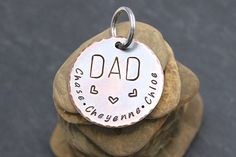 Get a special keepsake for DAD for Fathers Day. Personalization  included. Fast shipping. #dad #fathersday #gifts https://www.etsy.com/listing/298543503/dad-keychain-dad-birthday-gift