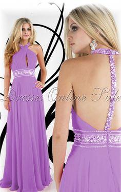Buy UK Sheath Floor-length Halter Lilac Dress, Ladies dresses and flower girls dresses, Discount Dresses for sale