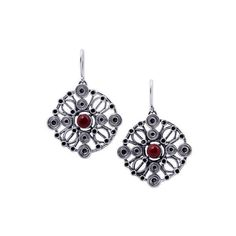 NOVICA Ornate Circular 950 Silver Dangle Earrings with Jasper (220 BGN) ❤ liked on Polyvore featuring jewelry, earrings, clothing & accessories, dangle, jasper, dangle earrings, long silver earrings, handcrafted silver jewelry, silver jewelry and novica jewelry
