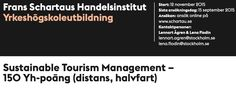 Spent the morning at Frans Schartau Business Institute, preparing for next weeks steering committee meeting for the Sustainable Tourism Management program.