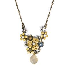 JJ Caprices - Bouquet Drop Necklace by Eric et Lydie