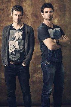 on Joseph Morgan and Daniel Gillies portray the characters of Niklaus and Elijah Mikaelson.Joseph Morgan and Daniel Gillies portray the characters of Niklaus and Elijah Mikaelson. Daniel Gillies, Joseph Morgan, Serie Vampire Diaries, Vampire Diaries The Originals, Movies And Series, Cw Series, Gorgeous Men, Beautiful People, Original Vampire