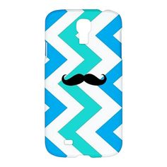 COOL MUSTACHE CHEVRON Pattern Samsung Galaxy S4 S IV S 4 Hardshell Case Cover
