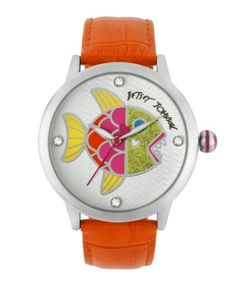 Betsey Johnson Women's BJ00084-32 Analog Fish Dial Watch: Watches: Amazon.com