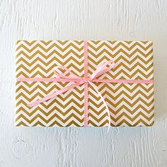 Hey, I found this really awesome Etsy listing at https://www.etsy.com/listing/167088072/10-feet-gold-chevron-wrapping-paper