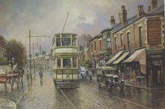 Tram at Bastwell Blackburn John Chapman, Bill Graham, Vintage Photos, England, Painting, Painting Art, Paintings, English, Painted Canvas