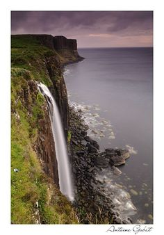 Kilt Rock waterfall on the Isle of Skye,Scotland.