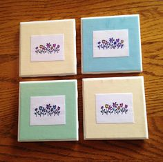 DIY coasters for Spring
