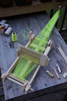 DIY loom! Scrap wood!