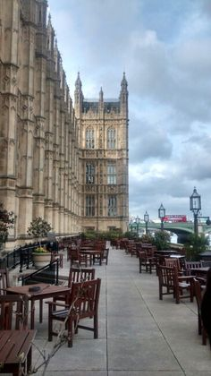 terrace, Houses of Parliament, London.