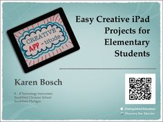 technology lessons Videos Activities is part of Technology Lesson Plans Videos Lessons Study Com - Easy iPad Projects for Elementary Students by Karen Bosch via slideshare Technology Lessons, Teaching Technology, Educational Technology, Technology Tools, Technology Integration, Instructional Technology, Project Based Learning, Christian School, Marketing Digital