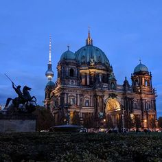 The Cathedral and that Communist Tower fit quite well The Magic of Communism, Berlin Germany, Statues, Taj Mahal, Cathedral, Sculptures, Tower, Magic, Architecture