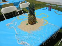 Spongebob Birthday Party Ideas, cute table decor | Photo 1 of 9 | Catch My Party