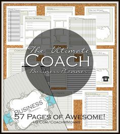 The ULTIMATE Coach Business PLANNER *New and IMPROVED ~ To Insanity & Back