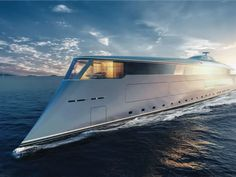 """Update: Despite the Sunday Telegraph's claims, it seems Bill Gates isn't buying the Aqua. """"The Hydrogen concept Aqua is not linked to Mr Gates (or his representatives) in any form or matter,"""" Sinot Yacht Architecture & Design said in a… Bill Gates, Yacht Design, Boat Design, Super Yachts, Aqua, Bateau Yacht, Monaco Yacht Show, Infinity Pool, Hydrogen Fuel"""
