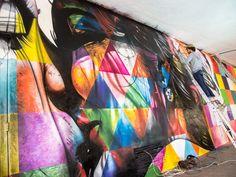 Comemorando 60 anos, Ibirapuera ganha mural feito por Eduardo Kobra