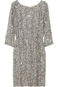 ALICE + OLIVIA Ritchie sequined silk-crepe dress