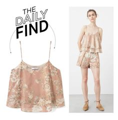 """The Daily Find: Mango Floral Top"" by polyvore-editorial ❤ liked on Polyvore featuring MANGO and DailyFind"