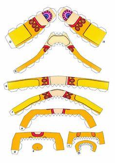 Yellow Submarine paper craft.