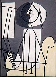 Pablo Picasso - Painter with Palette at his Easel [1928]