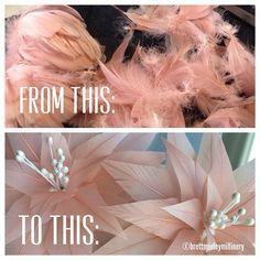 Divine! Brett Morley Millinery, 14.07.14 - It's a great day in the studio! #brettmorley #coutureuptop #featheredfloralfantasy #brettmilliner #cherryontop