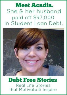 Are you drowning in student loan debt? Acadia & her husband took a different approach to pay off theirs. Find out how they paid off $97,000 in student loan debt. Debt Payoff Tips, #Debt Debt, Debt Payoff #Debt
