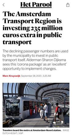 Amsterdam Transport, Public Transport, Transportation, Investing, September, News, Travel, Corona, Viajes