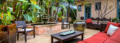 Keep an eye out for the humming birds playing in the fountain while you relax in the courtyard - a perfect place to savor your morning coffee or enjoy an evening glass of wine. Casa Paloma, a San Diego Vacation Rental in Mission Hills