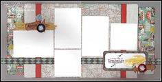 Two-page layout using Close To My Heart Cruisin' paper. Created by Tamytha Jenkins of Paperheartist.com