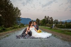 A beautiful bride and groom photo with beautiful backdrop. Photo by @joannamoss