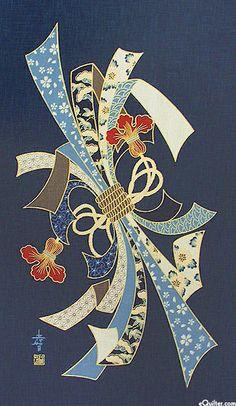 Noshi ruban Bundle - Panneau Noren - Indigo / Or