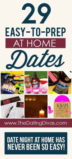 Perfect for busy couples who value fun and easy date nights! Less time planning, more time dating! Date Night Ideas For Married Couples, Romantic Date Night Ideas, Home Date Night Ideas, Romantic Surprise, Romantic Gifts, Quick Date, Easy Date, Date Night Jar, Dating Divas