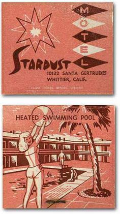 Hello Summer! Vintage matchbook. Crazy to see Fossil post this! It's my home town!