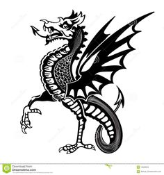 Dragon Stock Photos and Images. Dragon pictures and royalty free photography available to search from thousands of stock photographers. Medieval Dragon, Medieval Art, Renaissance Art, Dragon Images, Dragon Pictures, Silhouette Dragon, Vector Design, Vector Art, Dragon Tattoo Drawing