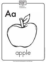 Printable Alphabet Coloring Pages: A Is for Apple (via Parents.com)