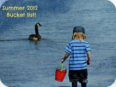 Summer 2012 - Bucket list