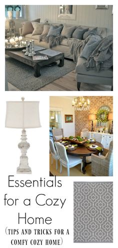Do you wish your home had a more cozy feel? This post highlights the essentials for a comfy, cozy home...full of tips and tricks!