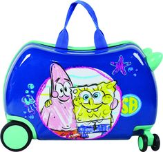Nickelodeon Sponge Bob Kids Carry On Luggage Children Seat-On Ride-On Suitecase >>> New and awesome outdoor gear awaits you, Read it now : Travel luggage Kids Luggage, Best Luggage, Carry On Luggage, Luggage Sets, Travel Luggage, Nickelodeon Spongebob, Carry On Size, Square Pants, Hardside Spinner Luggage