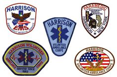 Harrison NY EMS patches over the years