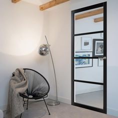 For those having a loft or warehouse conversion, this door is the perfect option to add style to the home, our Bespoke Industrial Style 4 Pane Door - Clear Glass - - 4 Prefinished Colours Choices Industrial Interior Doors, Industrial Style, Crittal Doors, Crittall, Inside Doors, Grey Doors, Loft Style, Single Doors, Sliding Doors