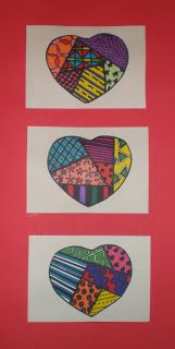 Kids Heart by Romero Britto.  I was looking for an interesting new artist to introduce students to instead of always turning to Jim Dine who...