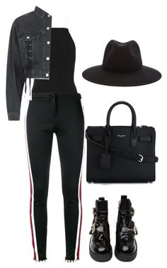 """Sans titre #1525"" by frenchystyle ❤ liked on Polyvore featuring T By Alexander Wang, Gucci, Topshop, Jeffrey Campbell, Yves Saint Laurent and rag & bone"