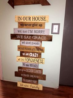 Pallet signs wall art design - 70+ Pallet Ideas for Home Decor | Pallet Furniture DIY